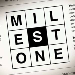 The second nine letter word is limestone